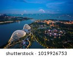 singapore bay and harbor with... | Shutterstock . vector #1019926753