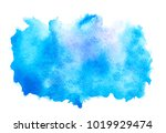 abstract blue watercolor... | Shutterstock . vector #1019929474