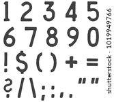 rustic metal simple rustic font ... | Shutterstock . vector #1019949766