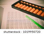 mental arithmetic background | Shutterstock . vector #1019950720
