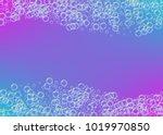 cleaning foam on gradient... | Shutterstock .eps vector #1019970850