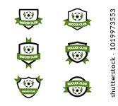 soccer logo design ilustration... | Shutterstock .eps vector #1019973553