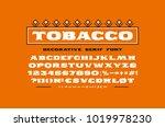 decorative extended serif font. ... | Shutterstock .eps vector #1019978230