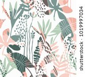abstract floral seamless... | Shutterstock .eps vector #1019997034