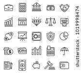set of finance icons vector | Shutterstock .eps vector #1019998474