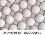 white chicken eggs in a...   Shutterstock . vector #1020000598