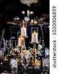 classy wedding setting.table... | Shutterstock . vector #1020006859