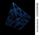 3d rendered geometric with... | Shutterstock . vector #1020008488