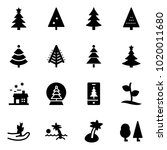 solid vector icon set  ... | Shutterstock .eps vector #1020011680