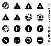 solid vector icon set   no... | Shutterstock .eps vector #1020012574