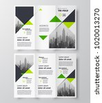 triangles theme tri fold... | Shutterstock .eps vector #1020013270