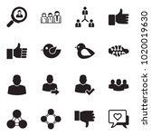 solid black vector icon set  ... | Shutterstock .eps vector #1020019630
