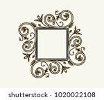 vector vintage border frame...   Shutterstock .eps vector #1020022108