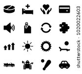 solid vector icon set   pill...