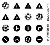 solid vector icon set   no... | Shutterstock .eps vector #1020025744