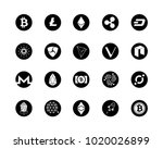 20 most popular cryptocurrency... | Shutterstock .eps vector #1020026899