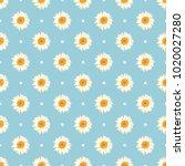 chamomile seamless pattern.... | Shutterstock .eps vector #1020027280