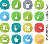 flat vector icon set   iron... | Shutterstock .eps vector #1020027634