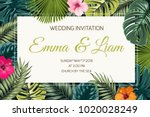 wedding event invitation card... | Shutterstock .eps vector #1020028249
