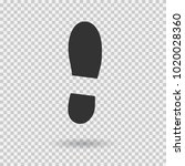 human shoe footprint icon.... | Shutterstock .eps vector #1020028360