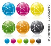 globe connect colors | Shutterstock .eps vector #102002950