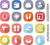 flat vector icon set   wallet... | Shutterstock .eps vector #1020035854