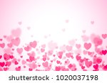colorful hearth bokeh for... | Shutterstock . vector #1020037198
