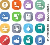 flat vector icon set   dollar... | Shutterstock .eps vector #1020038068