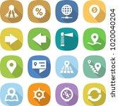 flat vector icon set   share... | Shutterstock .eps vector #1020040204
