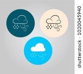 vector set of weather icons.... | Shutterstock .eps vector #1020045940