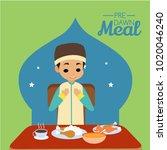 pre dawn meal illustration | Shutterstock .eps vector #1020046240