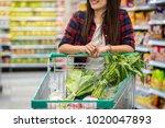 closeup young asian women hand... | Shutterstock . vector #1020047893