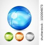 vector glass spheres | Shutterstock .eps vector #102004873