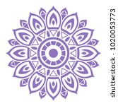 the seventh mandala purple... | Shutterstock .eps vector #1020053773