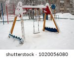 playground after snowfall | Shutterstock . vector #1020056080