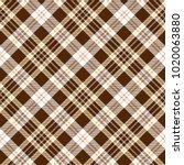 Check Brown Beige Textile...