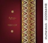arabesque thai classic gold... | Shutterstock .eps vector #1020066448