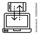 mobile and laptop data... | Shutterstock .eps vector #1020069664