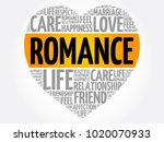 romance word cloud collage ... | Shutterstock .eps vector #1020070933