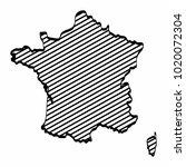 france map outline graphic... | Shutterstock .eps vector #1020072304