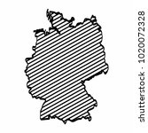 germany map outline graphic... | Shutterstock .eps vector #1020072328