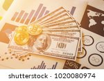 bit coin cryptocurrency  ... | Shutterstock . vector #1020080974