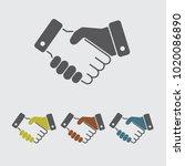 handshake vector icon   Shutterstock .eps vector #1020086890