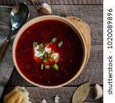 homemade traditional ukrainian... | Shutterstock . vector #1020089896