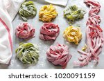 Homemade Colored Pasta On A...