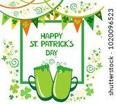 happy st. patrick's day.... | Shutterstock .eps vector #1020096523