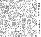 seamless pattern with love...   Shutterstock .eps vector #1020102904