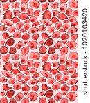 seamless leopard painted print. ... | Shutterstock . vector #1020103420
