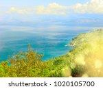 blue lagoon beach coast in the... | Shutterstock . vector #1020105700