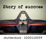 story of success vintage... | Shutterstock . vector #1020110059